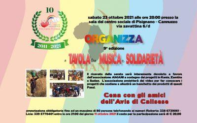 A tavola fra musica e solidarietà 2021